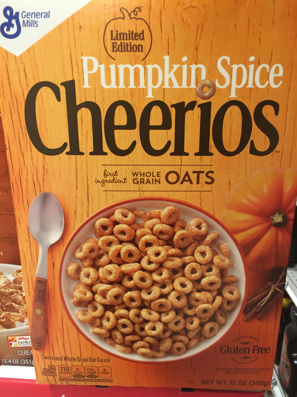 Limited Edition Pumpkin Spice Cheerios have officially hit the shelves.